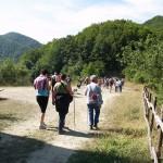 La camminata del mattino con le nostre guide